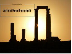 Antichi nomi Femminili